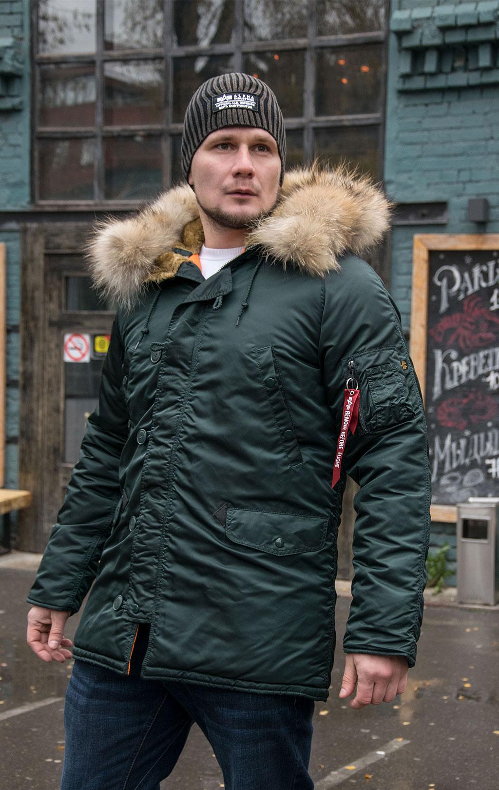 Аляска ALPHA INDUSTRIES VF 59 N-3B натур. мех dark petrol, купить в Интернет-магазине ForceAge.