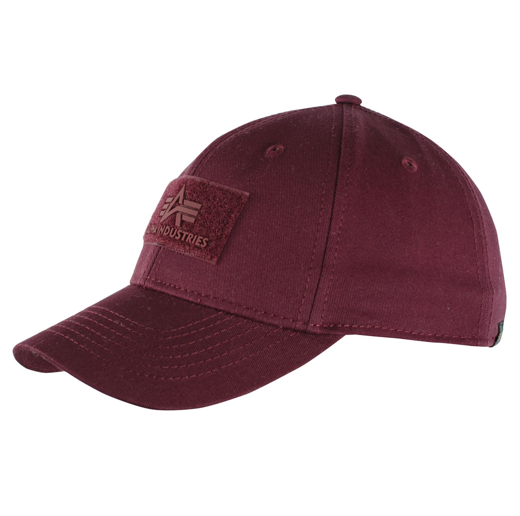 Бейсболка ALPHA INDUSTRIES VELCRO CAP burgundy