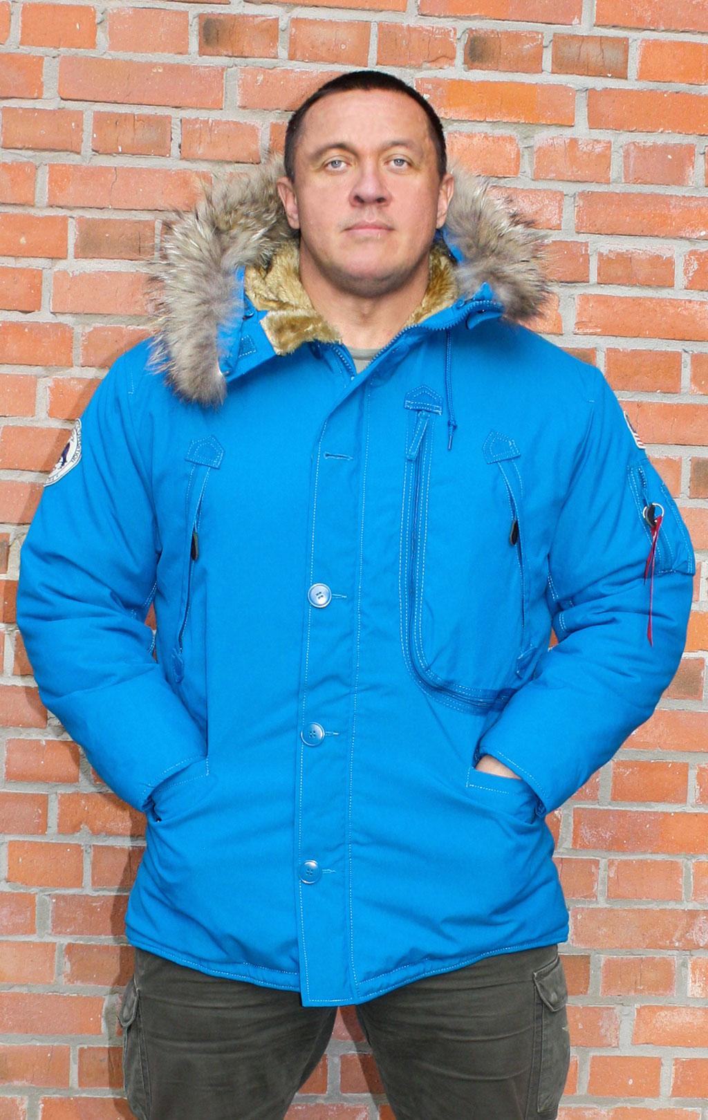 Аляска ALPHA INDUSTRIES POLAR натур. мех royal, купить в Интернет-магазине ForceAge.