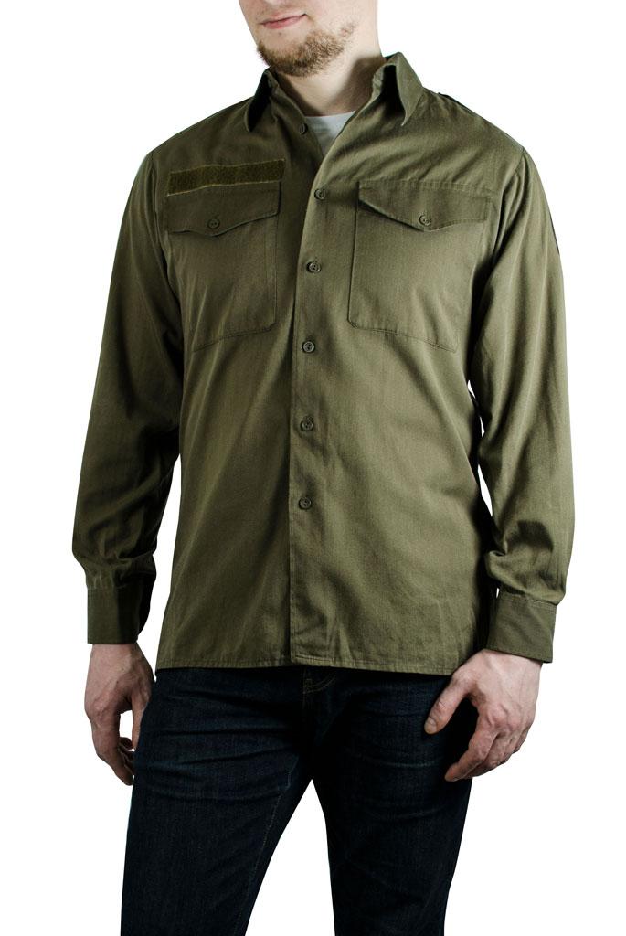 32079d4a7d1a4 Рубашка 50/50 Австрия olive б/у