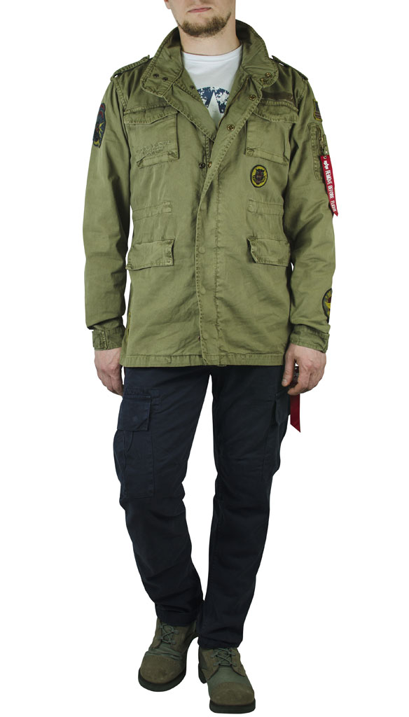 Ветровка ALPHA INDUSTRIES HUNTINGTON PATCH olive