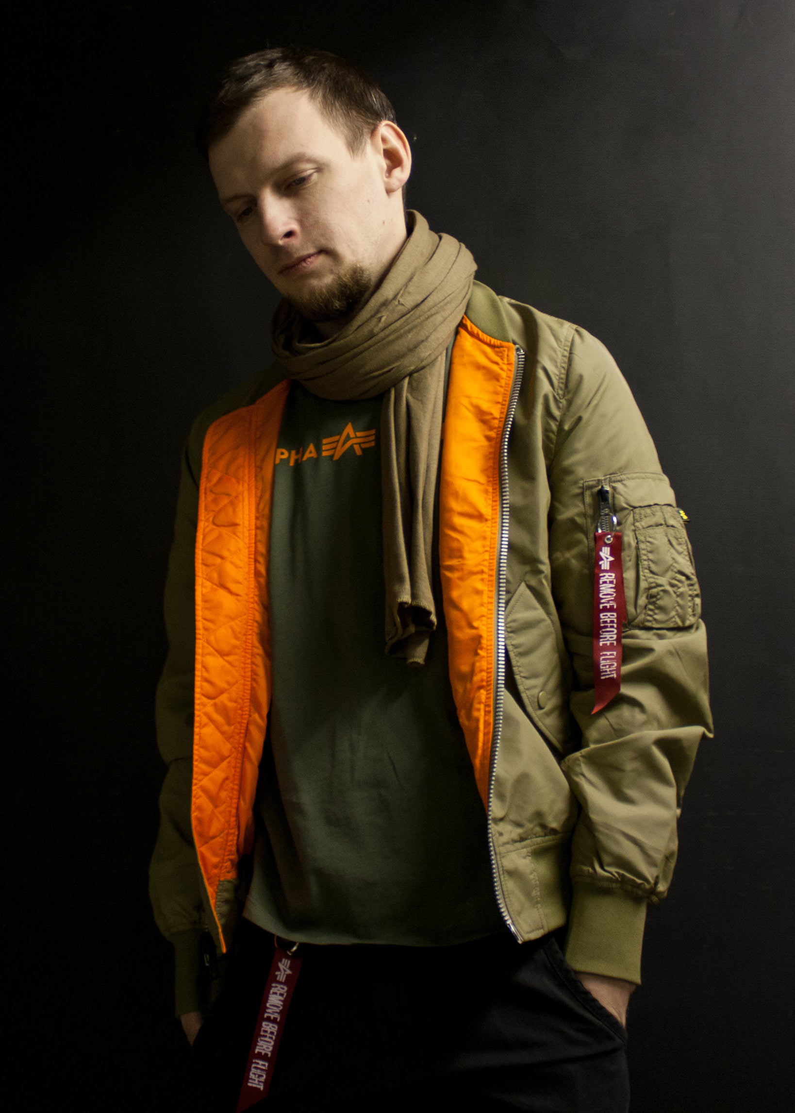 Ветровка-бомбер ALPHA INDUSTRIES L-2B SCOUT stratos