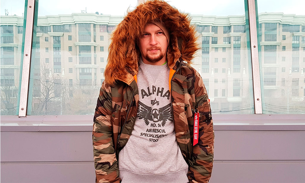 Аляска мужская камуфляжная ALPHA INDUSTRIES VF 59 N-3B CAMO WOODLAND 65