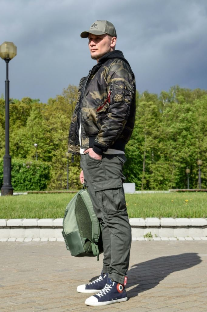 Куртка-бомбер ALPHA INDUSTRIES NATUS MA-1 dark woodland camo
