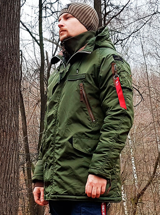 Аляска мужская ALPHA INDUSTRIES DISCOVERER DARK GREEN