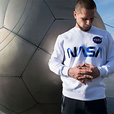 Свитшот ALPHA INDUSTRIES NASA reflective white/blue 5 740 руб