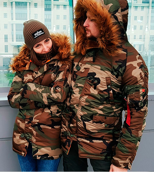 Аляска женская ALPHA INDUSTRIES VF 59 N-3B CAMO WOODLAND 65